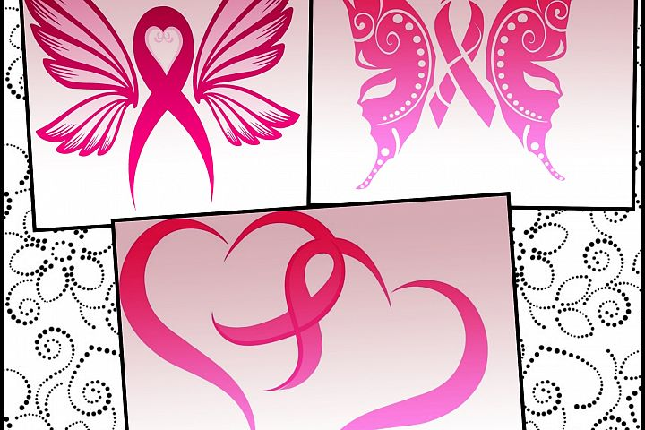 Breast Cancer ribbon svg files - Breast Cancer awareness SVG files