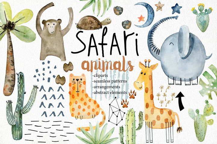 Safari animals. Kit.