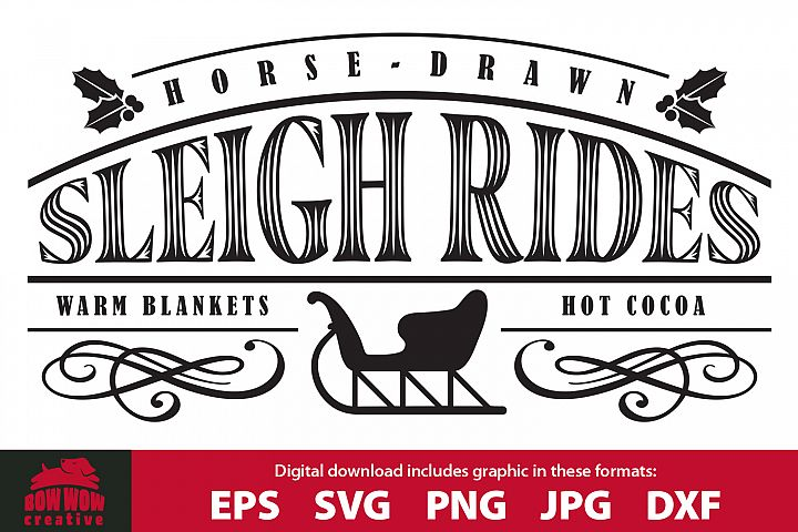 Sleigh Rides - SVG, EPS, JPG, PNG, DXF