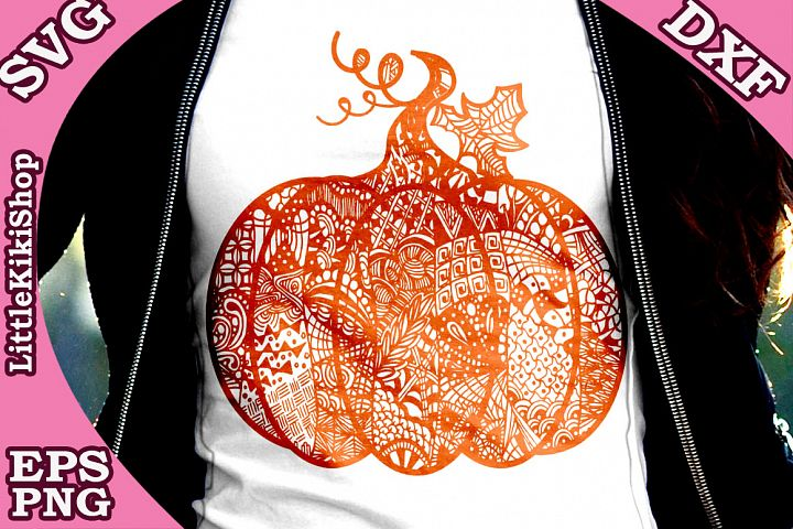 Zentangle Pumpkin, Pumpkin Svg, MANDALA PUMPKIN SVG, Thanksg