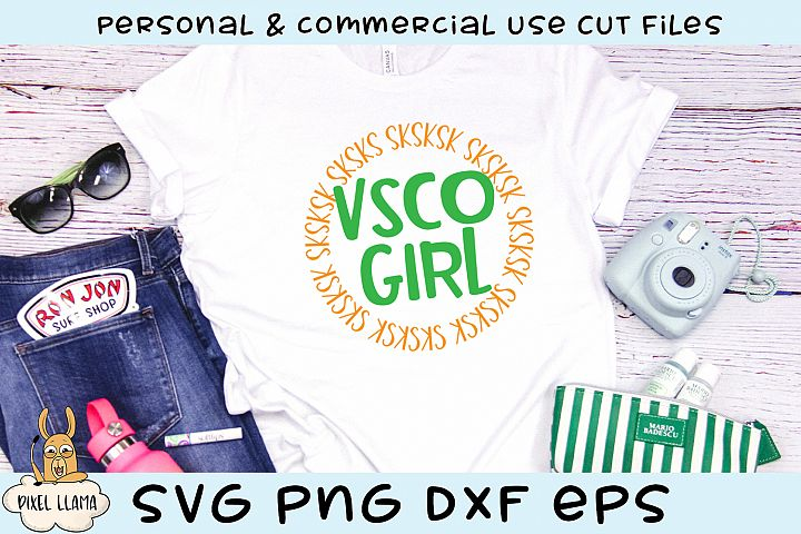 VSCO Girl Sksksk SVG