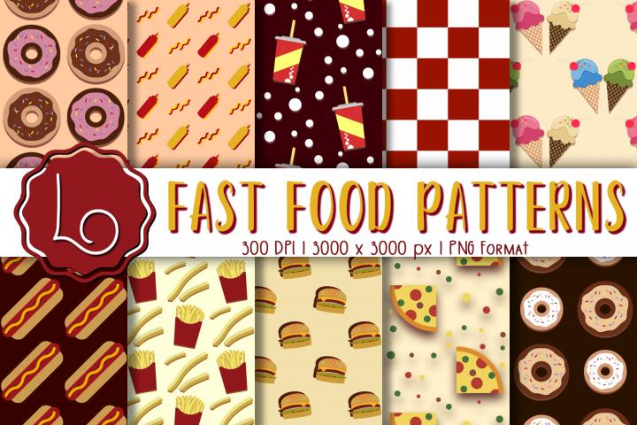 Fast Food Digital Patterns