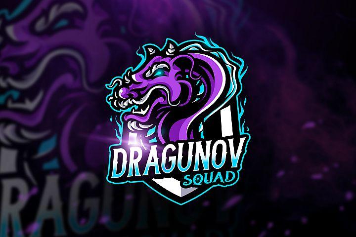 Dragunovv Squad - Macot & Esport Logo