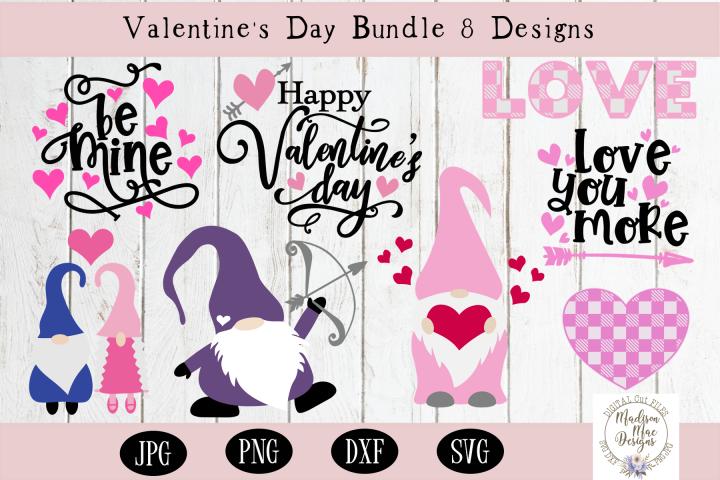 Valentines Day Bundle - 8 Designs, SVG, DXF, PNG, JPG
