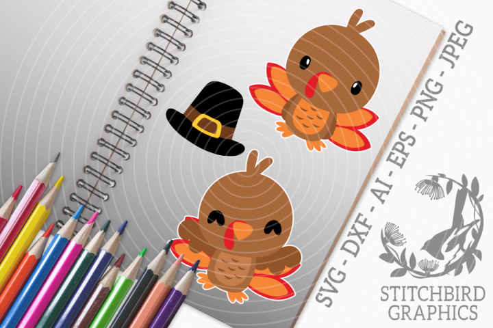 Cute Thanksgiving Bundle SVG, Silhouette Studio, Cricut, Eps