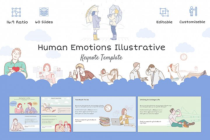 Human Emotions Illustrative Keynote Template
