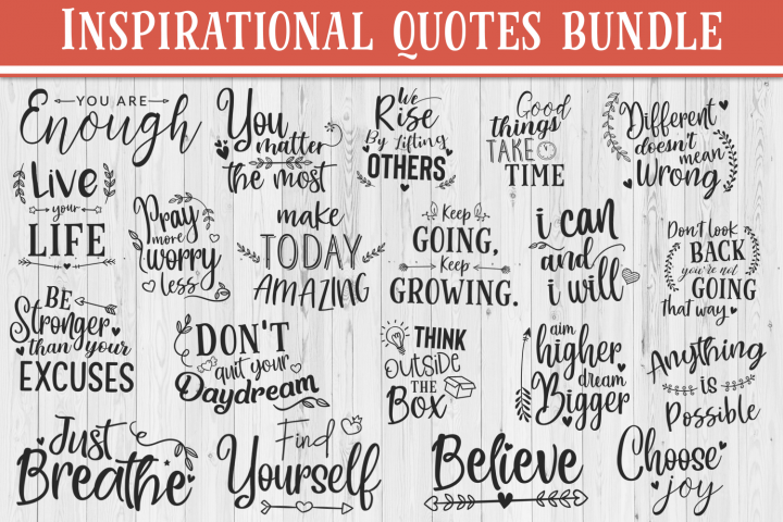 SALE! 20 Inspirational quotes bundle, motivational Quotes