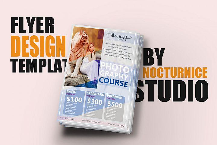 Feminine Style Flyer Template Design PSD