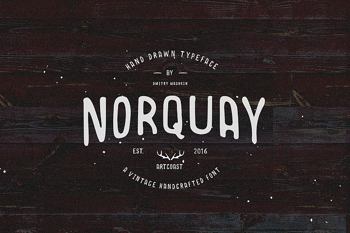 Norquay - Hand Drawn Font example