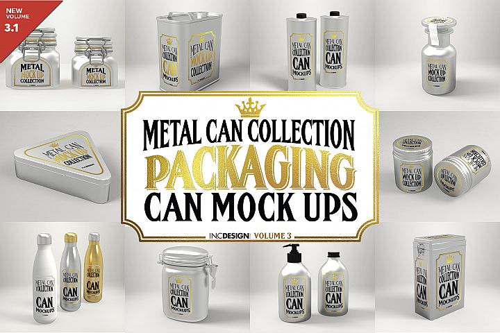 Vol.3 Metal Can Mockup Collection
