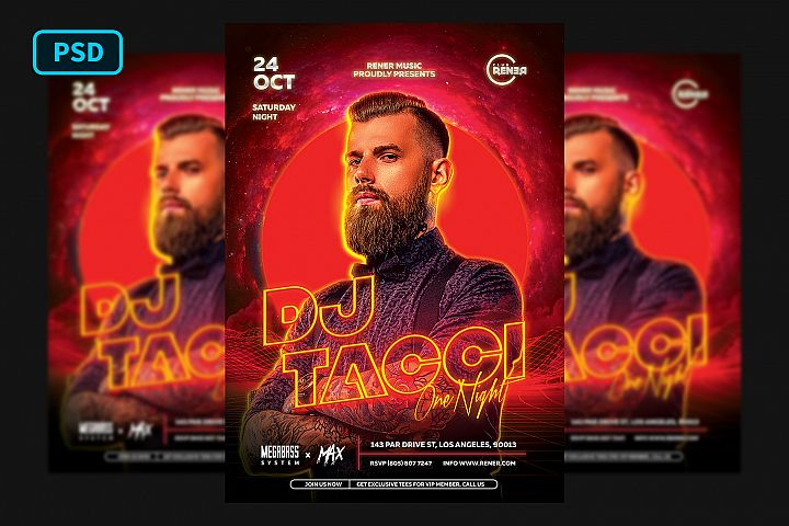 Techno DJ Flyer Template