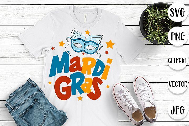 Mardi Gras SVG - Cut files, clipart, vector