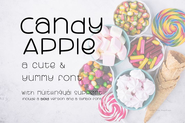 Candy Apple | A Cute and yummy font