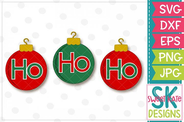 Ho Ho Ho Ornaments SVG DXF EPS PNG JPG