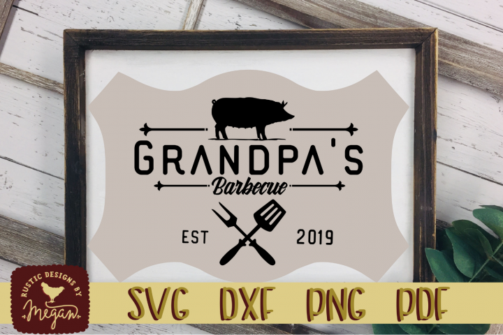 Grandpas BBQ SVG DXF EPS Cut file