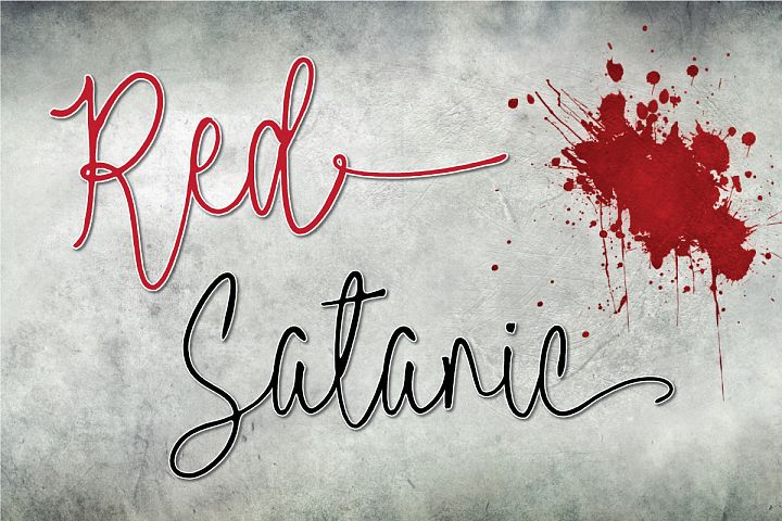 Red Satanic | Halloween & Christmas