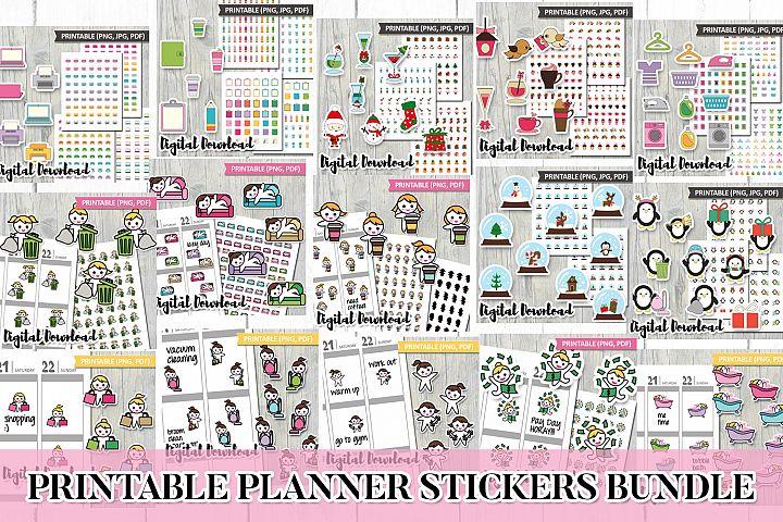 Printable Planner Stickers Bundle