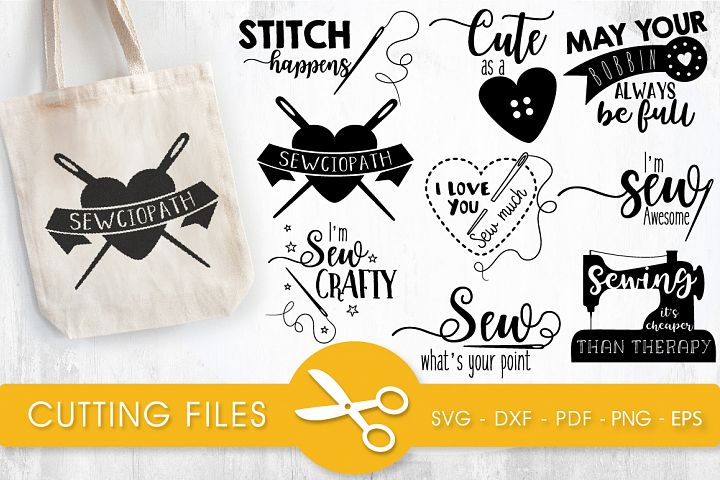 Sewing svg bundle cutting files svg, dxf, pdf, eps, png - Free Design of The Week Font