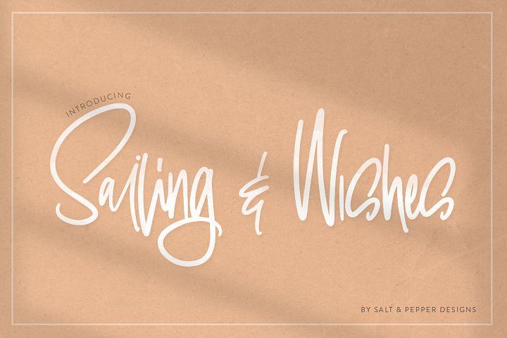 Sailing & Wishes Script Font