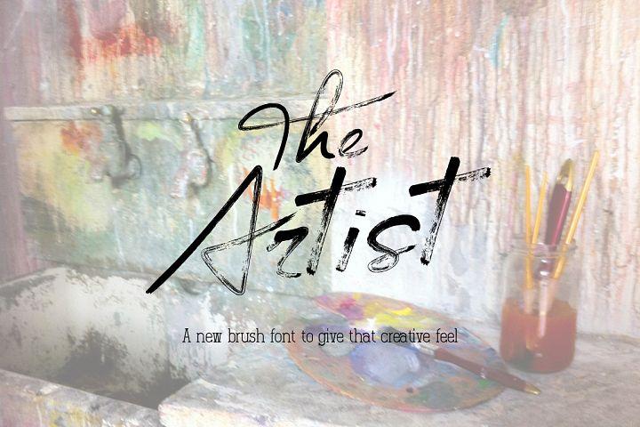 The Artist Brush Font