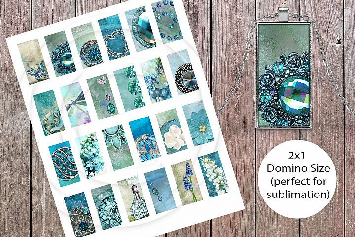 Mystical Glade Sublimation Jewelry Collage Sheet
