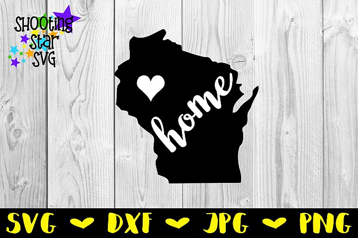 Wisconsin Home State with Heart - 50 States S