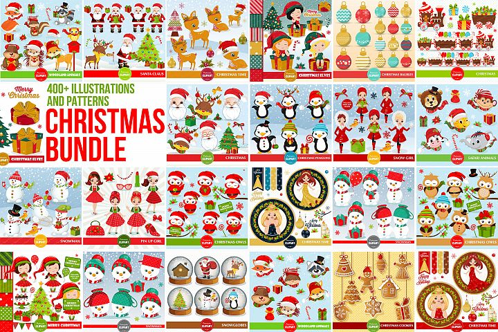 Christmas bundle, Christmas illustrations