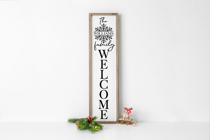 Christmas Front Porch Sign - Welcome Sign