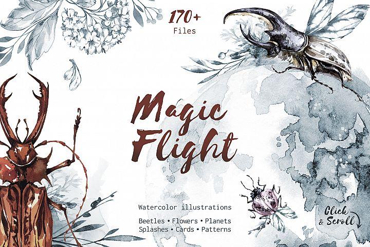 Magic Flight Watercolor collection