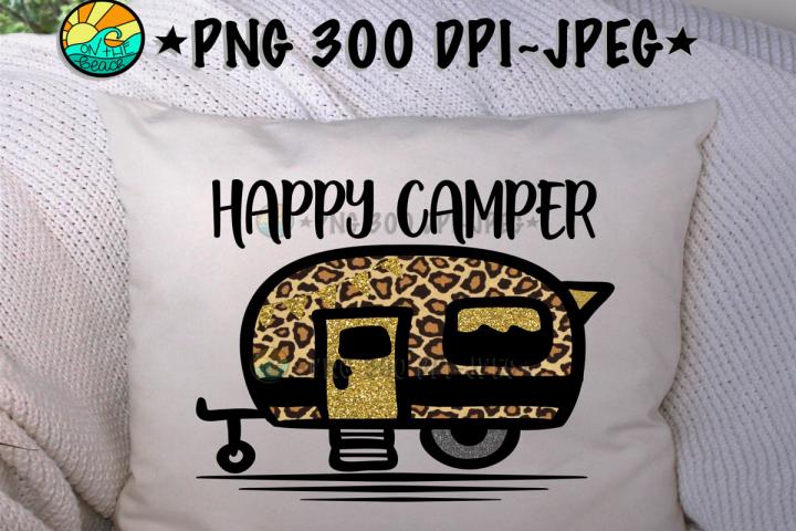 Happy Camper - Camper - PNG for Sublimation