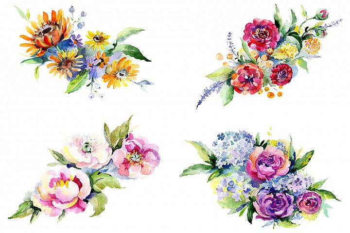 Bouquet Romantic Watercolor png