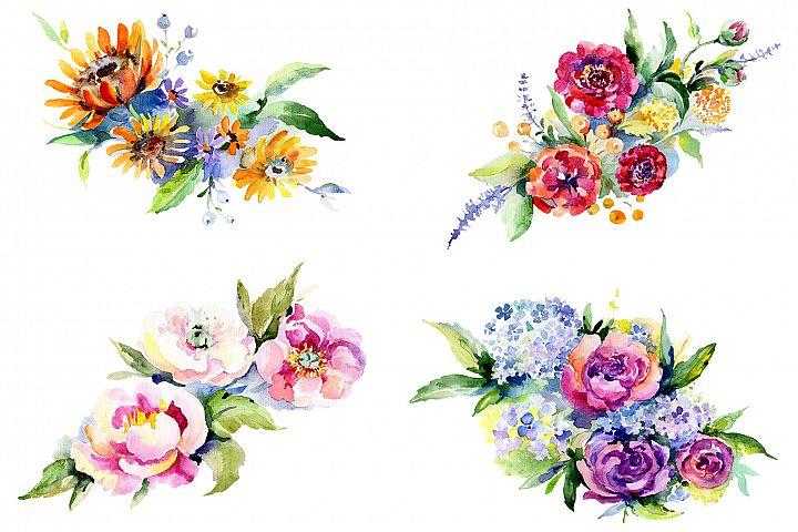 Bouquet Romantic Watercolor png