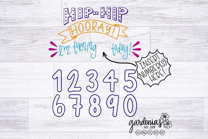 Hip Hip Hooray Birthday SVG | Birthday Cut File | Clip Art