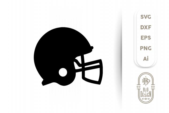Football Helmet SVG - Football Svg , Helmet Silhouette