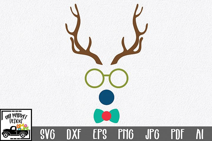 Christmas SVG Cut File - Boy Reindeer SVG DXF EPS PNG PDF