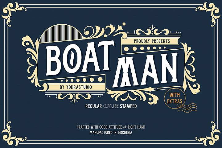 Boatman Font 3 Styles Extras