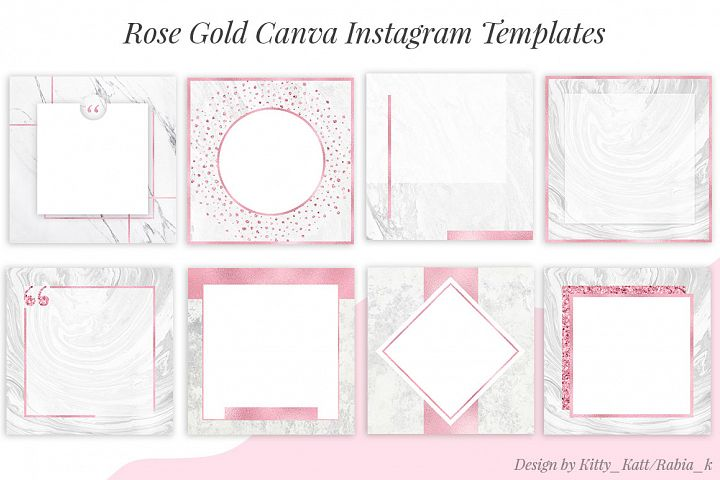 Rose Gold Canva Instagram Templates