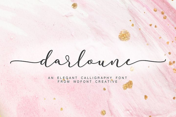 Darloune | An Elegant Calligraphy