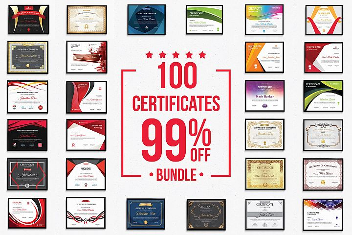100 Certificates Bundle