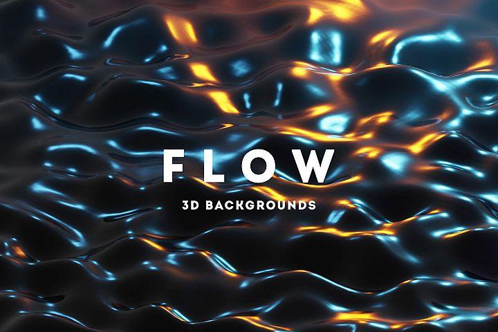 Flow - 25 Liquids 3D Backgrounds