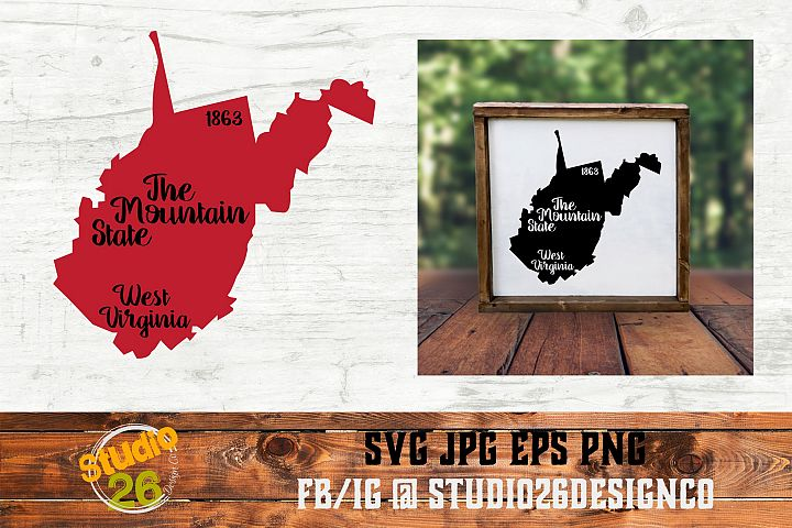 West Virginia - State Nickname & EST Year - 2 Files - SVG
