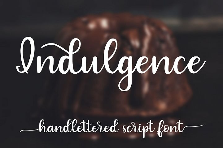 Indulgence - A handlettered script font