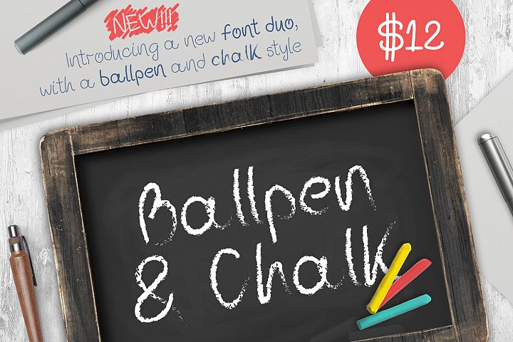 Ballpen and Chalk Typeface example image 1