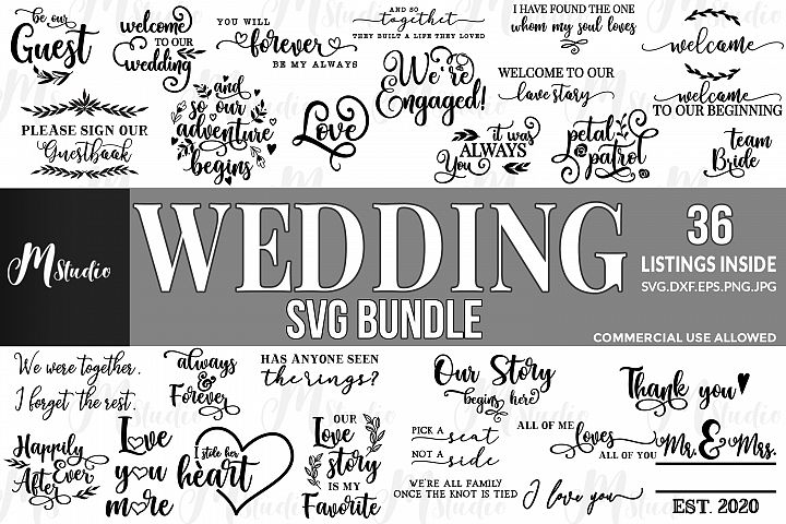 Wedding SVG Bundle.
