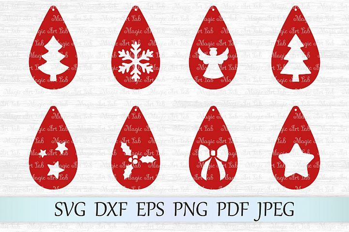 Christmas earrings SVG, Earring templates SVG, Earrings SVG