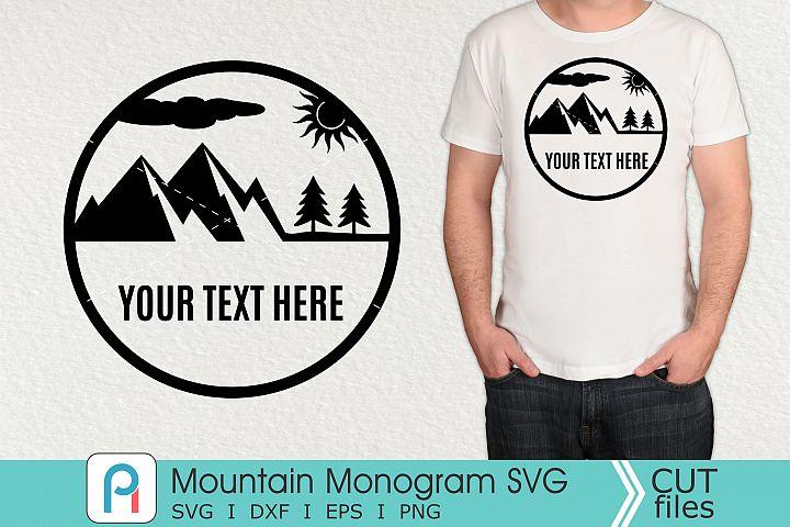Mountain Monogram Svg, Mountain Svg, Mountain Clipart