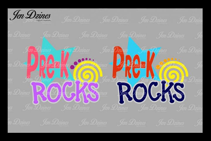 PreK Rocks SVG DXF EPS PNG