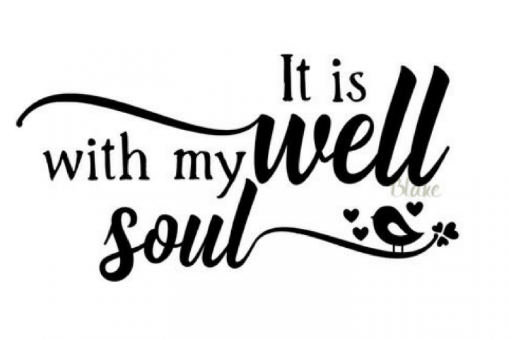 It is well with my soul svg CUT file for silhouette cameo cricut Christian Hymn faith t-shirt decal mug svg It is well hymn w bird svg file