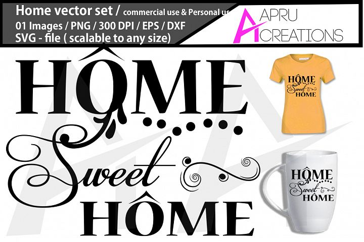 home, home silhouette, home clipart, home cutfile