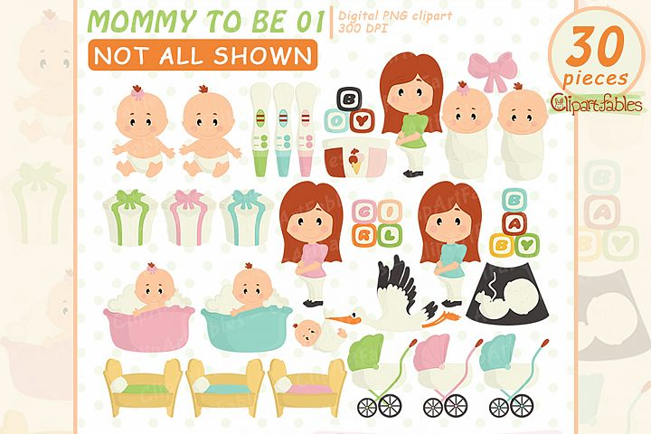 Mommy clip art, Baby shower clipart, Pregnancy clipart